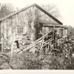 """George Coombes' board and batten cottage, """"Glen Alder"""". ca. 1940"""