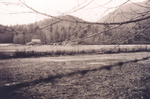 Lister's Farm can be seen in the distance. Ca. 1930's