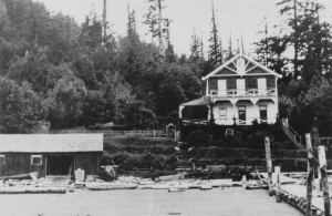 The Invercraig Lodge  at Hood Point, the year that it ceased to be a hotel. ca.1911