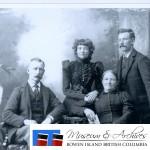 Thomas Grafton; Susanah Caroline Grafton; Caroline Susanna Grafton (mother); William Grafton. Taken in a Vancouver studio. ca. 1898