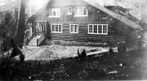 "Roger's house, ""Fairweather"" at Fairweather Point. ca 1940's"