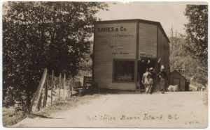 Davies & Co. store and post office on Government Road in Snug Cove. ca. 1912