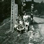 Evergreen Park Resort entrance. ca.1956
