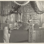 An interior shot of one of the ornate bedroom sets of Lieben. ca 1940's