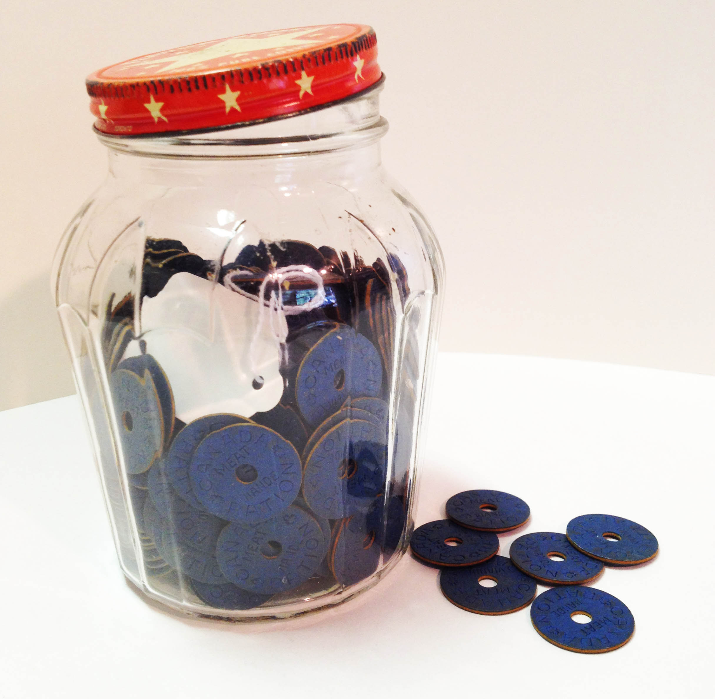 Jar of Food Ration Tokens.From our Artifact Collection