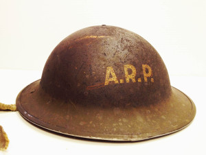 Air Raid Patrol Helmut.From our Artifacts Collection.