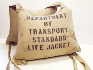 Department of Transportation Canada issued Life Jacket. From our Artifact Collection