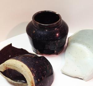 Pot Shard from explosives factory. ca 1900's